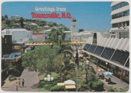 Australia QUEENSLAND QLD Flinders Mall TOWNSVILLE Murray Views W4 Postcard 1989 KENYA Meter Postmark !! To Sweden - Townsville