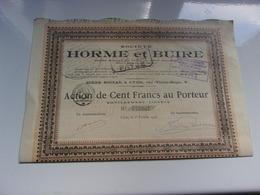 HORME Et BUIRE (1917) Lyon - Hist. Wertpapiere - Nonvaleurs