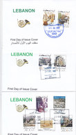 Lebanon-Liban-LIQUIDATION OFFER Defintiive Set 2002,on 3 FDC As Date Issued-Rare Set High Values RARE-SKRILL PAYMENT - Lebanon