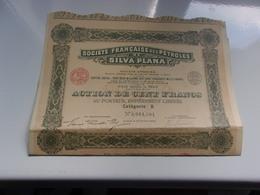 Française Des Pétroles De SILVA PLANA (imprimerie RICHARD)100 Francs - Actions & Titres