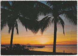 Australia QUEENSLAND QLD Tropical Sunset GREEN ISLAND Murray Views W35 Postcard C1970s - Cairns