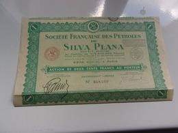 Française Des Pétroles De SILVA PLANA (200 Francs)1937 - Hist. Wertpapiere - Nonvaleurs