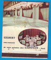 POCHETTE SANS ALLUMETTES CREATION LASTAR GILBERT VOUS REMERCIE DE VOTRE PRESENCE LEDOYEN PARIS - Matchboxes