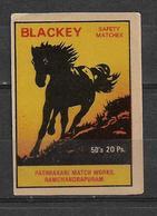INDIA MATCHBOX LABEL HORSES - Matchbox Labels