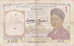 Indochine - Billet De 1 Piastre - Non Daté - Indochine