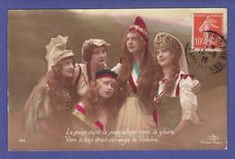 Coalition De Femme Allant Vers La Gloire ( CORNURE 1 ANGLE SINON TTB état) N115 - Guerre 1914-18