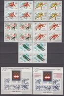 Russia, USSR 04.02./24.03.1976 Mi # 4444-48 In Blocks Of 4 Bl 109-110, Innsbruck Winter Olympics MNH OG - Winter 1976: Innsbruck