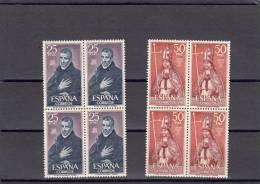 España Nº 1961 Al 1962 En Bloque De Cuatro - 1961-70 Nuevos & Fijasellos