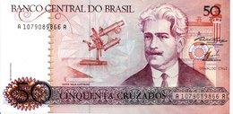 BRESIL   Billet 50 Cinquenta  Cruzados Bank Banque TBE - Brasilien