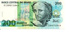 BRESIL   Billet 200 Duzentos  Cruzados Bank Banque - Brasilien