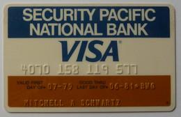 USA - Credit Card - VISA - Security Pacific National Bank - Exp 06/81 - Used - Carte Di Credito (scadenza Min. 10 Anni)