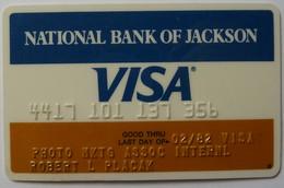 USA - Credit Card - VISA - National Bank Of Jackson - Exp 02/82 - Used - Cartes De Crédit (expiration Min. 10 Ans)