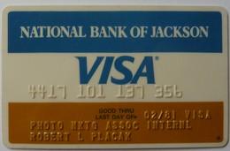 USA - Credit Card - VISA - National Bank Of Jackson - Exp 02/81 - Used - Carte Di Credito (scadenza Min. 10 Anni)