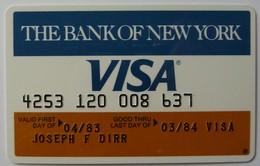 USA - Credit Card - VISA - The Bank Of New York - Exp 03/84 - Used - Carte Di Credito (scadenza Min. 10 Anni)