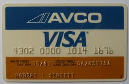 USA - Credit Card - VISA - AVCO - Exp 06/83 - Used - Geldkarten (Ablauf Min. 10 Jahre)