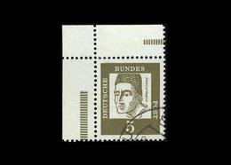 BRD 1961, Michel-Nr. 347y, Freimarken Bedeutende Deutsche, 5 Pf., Eckrand Aus MHB 9, Gestempelt - BRD