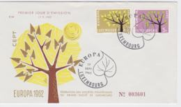 Luxembourg 1962 FDC Europa CEPT (G100-40) - Europa-CEPT