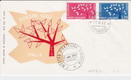 Italy 1962 FDC Europa CEPT (G100-40) - Europa-CEPT