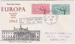Ireland  1962 FDC Europa CEPT (G100-40) - Europa-CEPT