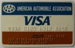 USA - Credit Card - VISA - AAA - American Automobile Association - Exp 11/81 - Used - Carte Di Credito (scadenza Min. 10 Anni)