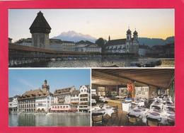 Modern Multi View Post Card Of Restaurant Mostrose,Luzern,Lucerne, Lucerne, Switzerland,A20 - LU Lucerne