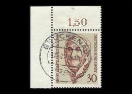 BRD 1969, Michel-Nr. 611, 200. Geburtstag Von Ernst Moritz Arndt, Eckrand Oben Links, Gestempelt - BRD