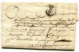 GIRONDE De BORDEAUX LAC Du 27/07/1772 Marque Lenain N°10 Taxée 6 Pour MAGNIAC - 1701-1800: Précurseurs XVIII