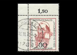 BRD 1970: Mi.-Nr. 656, 300. Todestag Von Johann Amos Comenius, Eckrand Oben Links, Gestempelt - Gebraucht