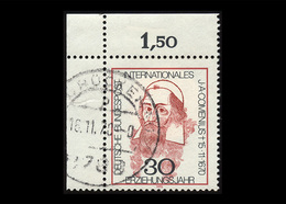 BRD 1970: Mi.-Nr. 656, 300. Todestag Von Johann Amos Comenius, Eckrand Oben Links, Gestempelt - BRD