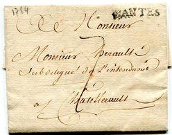 LOIRE ATLANTIQUE De NANTES LAC Du 18/12/1784 Marque Lenain N°5 Et Taxe De 7 Pour CHATELLERAULT - 1701-1800: Précurseurs XVIII