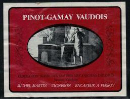 Etiquette De Vin // Pinot-Gamay, Réserve Des Maîtres Mécaniciens Diplômés, Section Vaudoise - Métiers