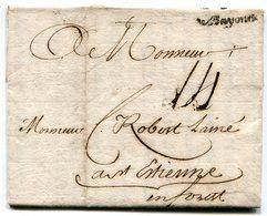 PYRENEES ATLANTIQUES De BAYONNE LAC Du 12/01/1760 Marque Lenain N°5 Et Taxe De 14 Pour ST ETIENNE - 1701-1800: Précurseurs XVIII