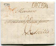 ITALIE De NAPLES LAC Pour MARSEILLE Du 30/05/1789 Taxée à 22 - 1701-1800: Précurseurs XVIII