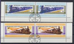 Congo - Brazzaville 1982.  Railway. Trains. Locomotives. Used - Congo - Brazzaville