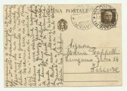 INTERO POSTALE CENT. 30 - GENOVA/CHIAVARI - FIRENZE - 1900-44 Vittorio Emanuele III