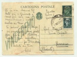 CARTOLINA  CON INTERO POSTALE DA CENT. 15 + AGGIUNTO CENT. 15 LUOGOTENENZA - 5. 1944-46 Luogotenenza & Umberto II
