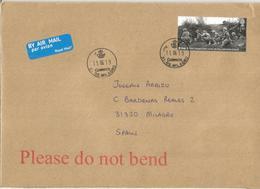 GRAN BRETAÑA CC SELLO D-DAY SOLDADOS WW2 GUERRA MUNDIAL MAT EN DESTINO NAVARRA - Militares