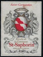 Etiquette De Vin // St-Saphorin, Récolte De La Commune - Etiquettes