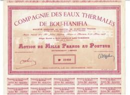 ALGERIE-EAUX THERMALES DE BOU-HANIFIA. DECO - Actions & Titres