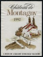 Etiquette De Vin // Château De Montagny 1992, Cave Du Crédit Foncier Vaudois - Etiquettes