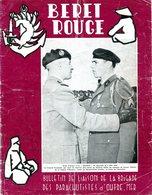 Béret Rouge N°5 Juin 1959 Guerre D'Algérie Bulletin Parachutistes - Revues & Journaux