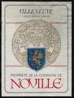 Etiquette De Vin // Villeneuve, Vin Propriété De La Commune De Noville - Etiquettes