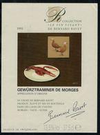 Etiquette De Vin // Morges, Le Vin Vivant De Bernard Ravet-Grand Chef De Cuisine - Métiers