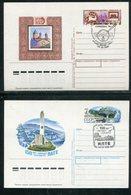 Sowjetunion / 1988 Ff. / 2 Sonderpostkarten, SSt. (18131) - 1980-91