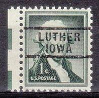 USA Precancel Vorausentwertung Preo, Locals Iowa, Luther 729 - Vereinigte Staaten