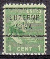 USA Precancel Vorausentwertung Preo, Locals Iowa, Luzerne 712 - Vereinigte Staaten