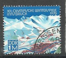 """DDR 2105 Aus  Bl.43 """"Olympische Winterspiele Innsbruck '76"""" Gestempelt.Mi 3,00 - DDR"""