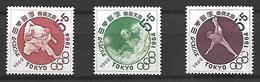 NIP001 - 1962 GIAPPONE - PREOLIMPICA TOKIO 1964 - NUOVI - 1926-89 Imperatore Hirohito (Periodo Showa)