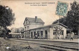 France - 02 - Environs De Laon - Saint Gobain - La Gare - Les Quais  - Le Train Entrant - Laon