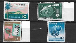 NIP013 - 1963/4 GIAPPONE - 4 SERIE COMPLETE  - NUOVI - 1926-89 Imperatore Hirohito (Periodo Showa)